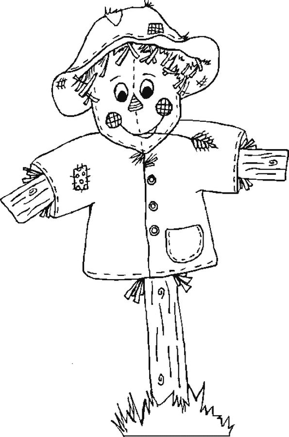 coloring scarecrow picture print this drawing for your kids