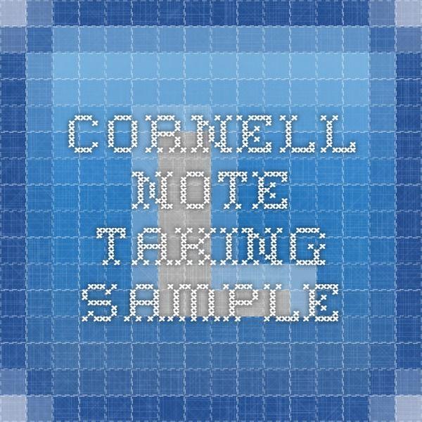 25+ beste ideeën over Cornell notes example op Pinterest - Cornell - cornell note