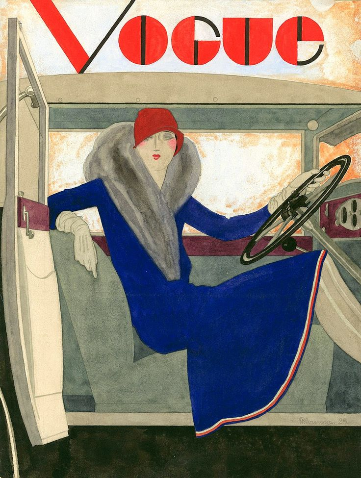 Vogue cover, 1928. Illustrated by Pierre Morgue.
