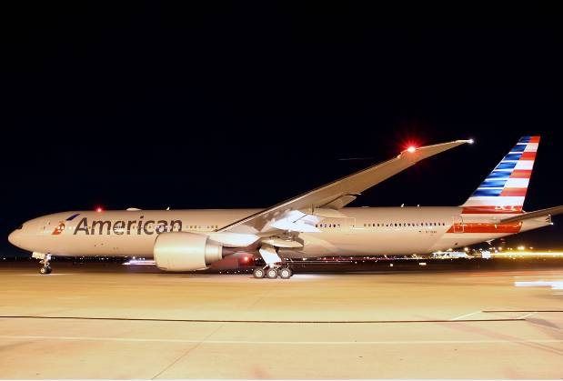 "Soon you'll see our planes lighting the night sky as we add ""tail illumination"" to our fleet. #newAmerican"