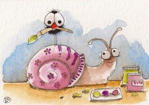 The painted snail make-over.