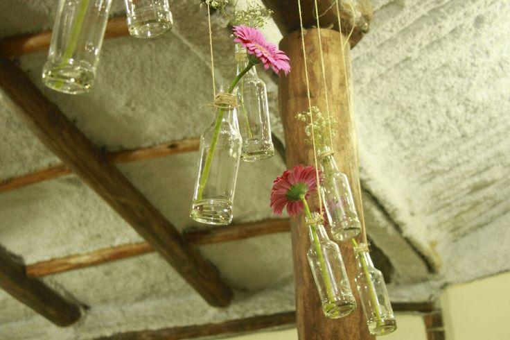 Flores na garrafa!