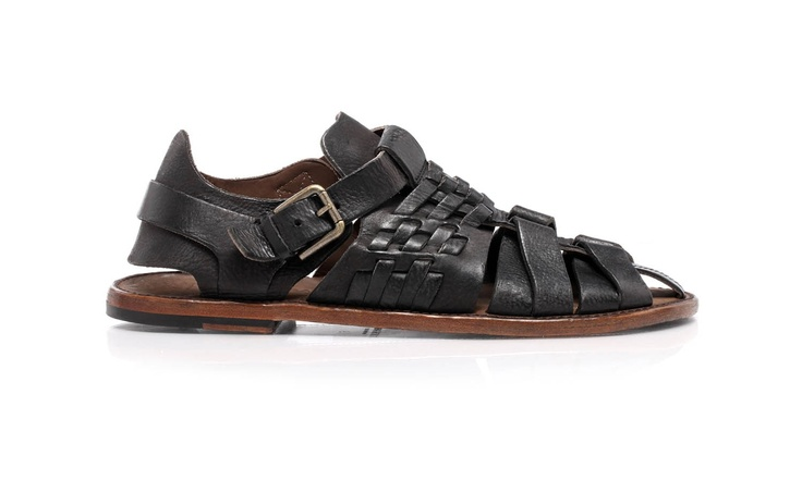 Leather sandals with leather sole by @Dolce & Gabbana