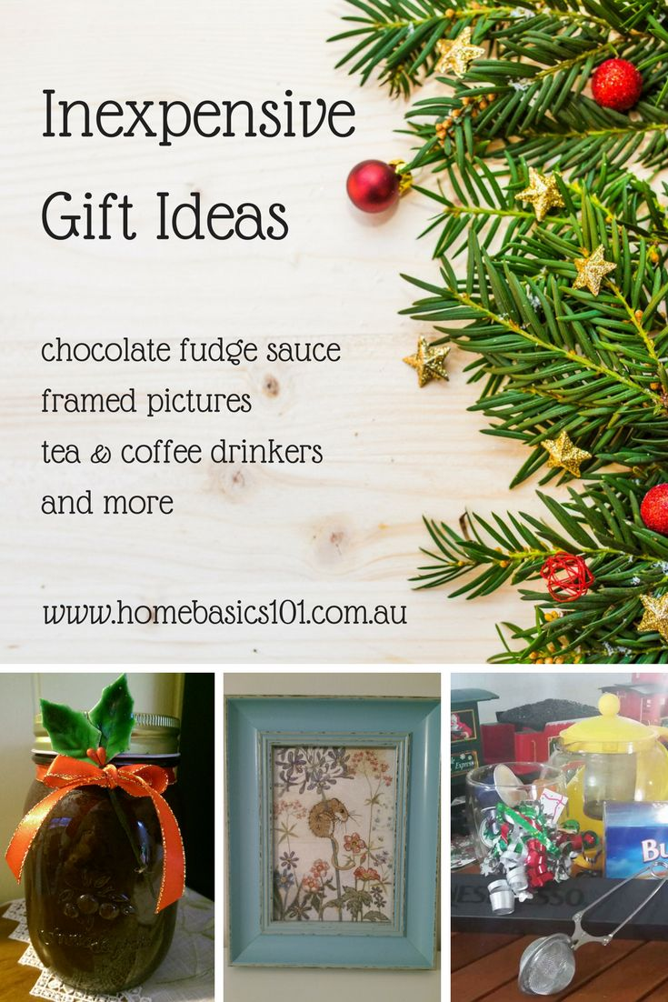 Inexpensive Gift Ideas    Christmas is probably THE most expensive time of the year, so we thought we'd  share with you a few inexpensive gift ideas that you can shop for or make ahead  of time, whilst being kind to your budget.     #DIY #House (scheduled via http://www.tailwindapp.com?utm_source=pinterest&utm_medium=twpin)