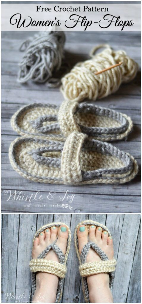 Easy Crochet Slippers Free Patterns