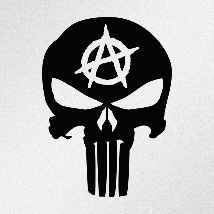 Punisher Skull Anarchy Symbol Car Body Window Bumper Vinyl Decal Sticker #Oracal