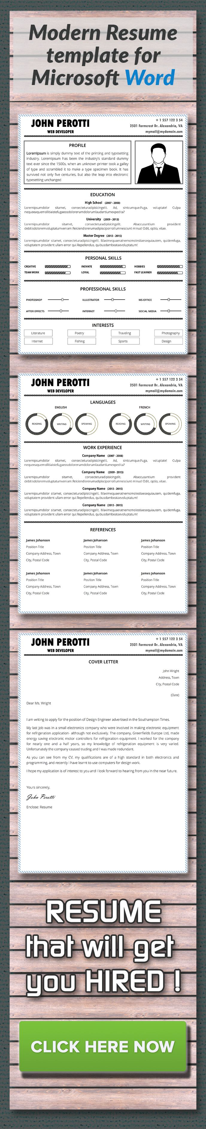 Word Cv Templates 2007%0A Modern Resume Template Employers like to read