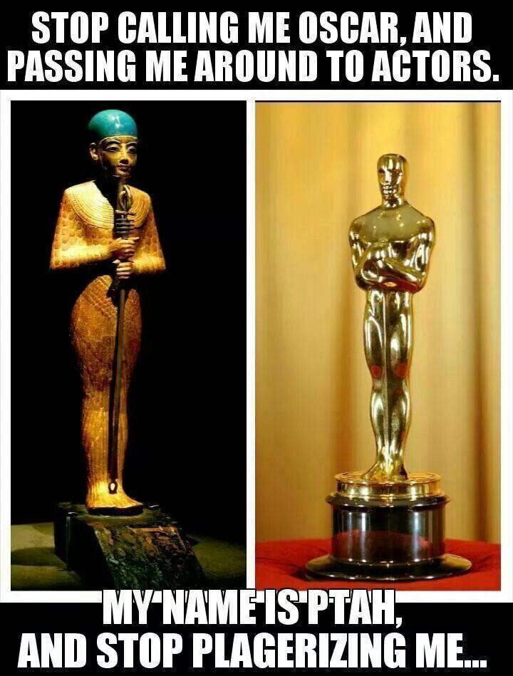 culture bandits-Ptah vs Oscar statue