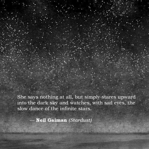 ... the slow dance of the infinite stars ...