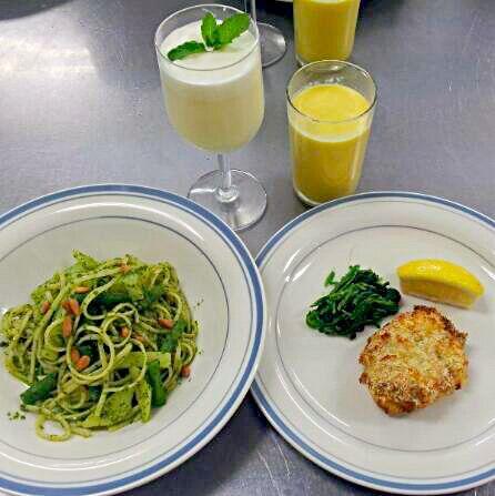 レシピあとから、載せます (๑•ᴗ•๑)♡ - 38件のもぐもぐ - イタリアン料理教室にて。~バジル,ジェノヴェーゼ☆鶏肉のパン粉焼き☆とうもろこしのスープ☆レモンゼリー☆レシピ追加 by fleur922v15