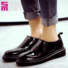 Marca 2016 mujeres pisos nuevos del diseño zapatos Casual mujer primavera zapatos suela gruesa plataforma de moda Popular escuela zapatos(China (Mainland))
