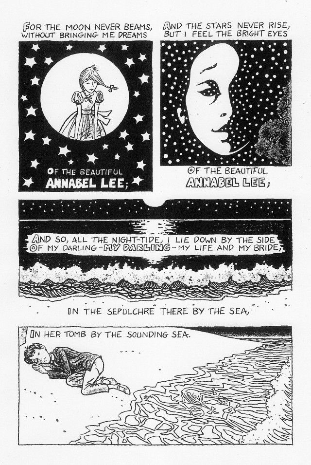 the literary elements of annabel lee Finally, after all of poe's uses of literary terms and his use of rhyme and meter to show his undying love for annabel lee, the reader of the poem learns that his love for this girl is deep and tragic.