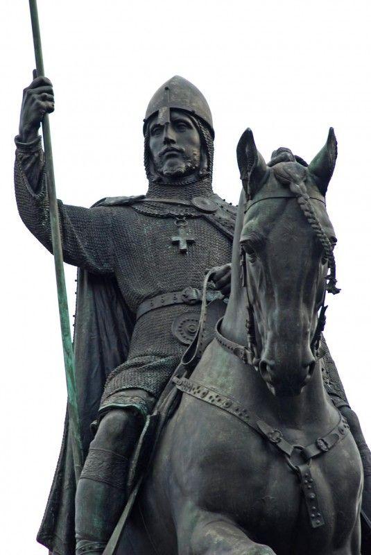 The subject of a delightful ancient Christmas song! St.Wenceslas (Václav) equestrian statue - a sculptural group of Czech saint patrons at Wenceslas Square, Prague, Czechia (installed 1912-1924)