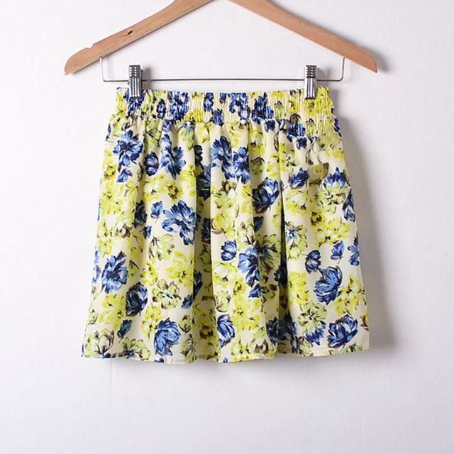 Short Skirt for Women 2017 Tutu School Skirt Yellow Black Women Clothing Short Skirts Faldas A-line Vogue Girl Slim Bottoms