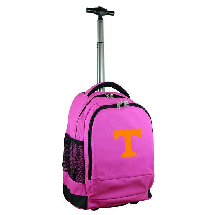 Tennessee Volunteers 19'' Premium Wheeled Backpack - Pink