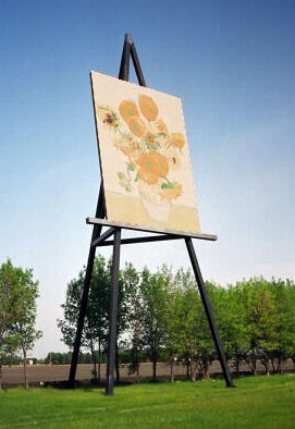 Rendition of Van Gogh's Sunflowers in Altona, Manitoba. Manitoba is the largest grower of sunflowers in Canada.