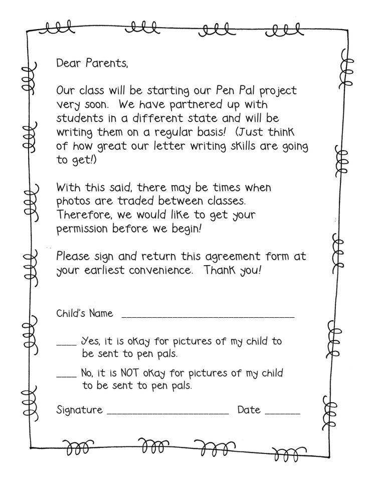 13 best Pen pals images on Pinterest American soldiers, Children - permission slip template