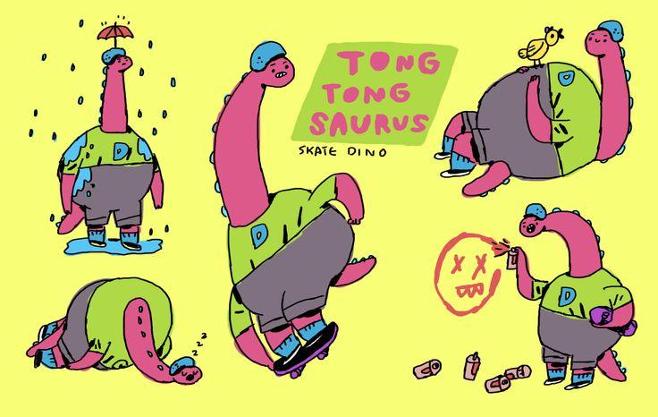 TONG TONG SAURUS - skate dino
