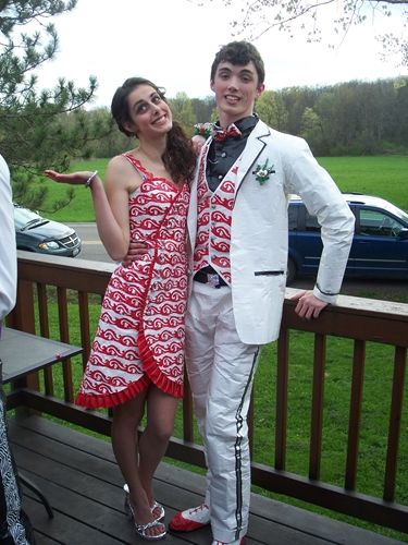 Scholarships duct tape prom dresses