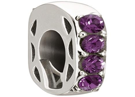 Chamilia- Simple Elegance with purple Swarovski Crystals