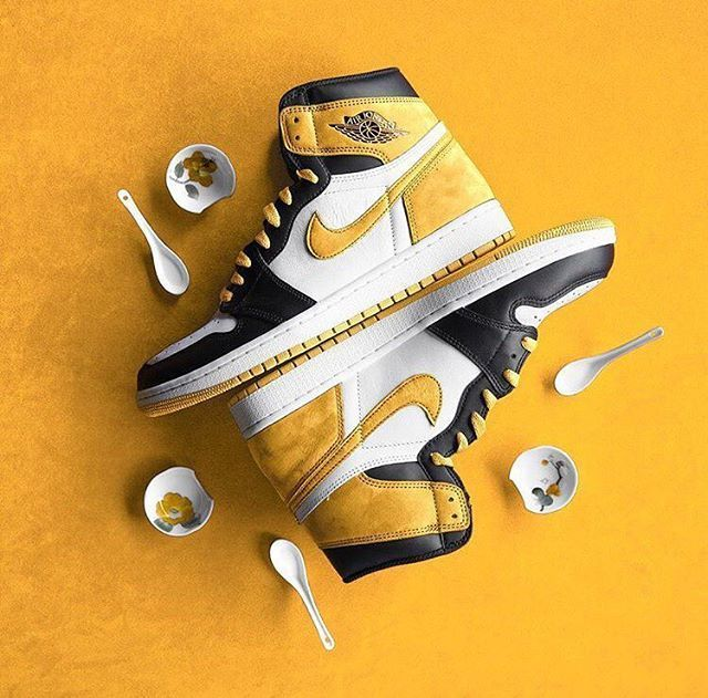 Art: Air Jordan 1 Yellow Ochre