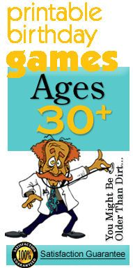 Printable ADULT PARTY GAMES ages 30+