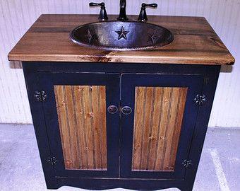 Photo Gallery For Website Bathroom Vanity FH Rustic Farmhouse Bathroom Vanity Black