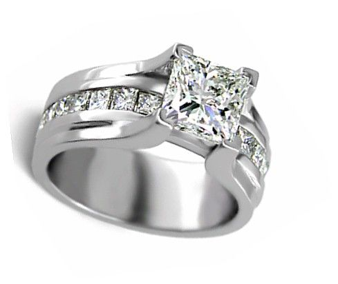 wide band princess cut engagement ring products