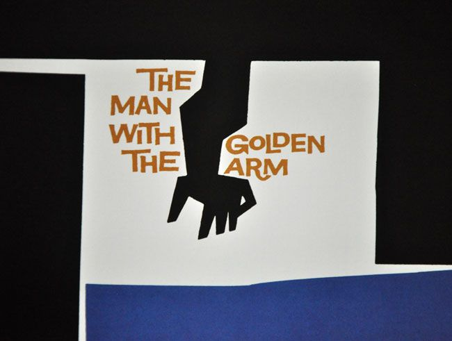 The Man With The Golden Arm by Saul Bass. Fantastic poster and opening credits!