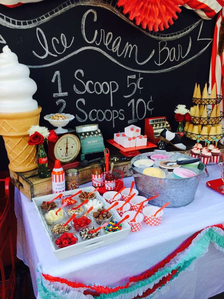Best 25 sundae bar ideas on pinterest ice cream sunday for B day party decoration