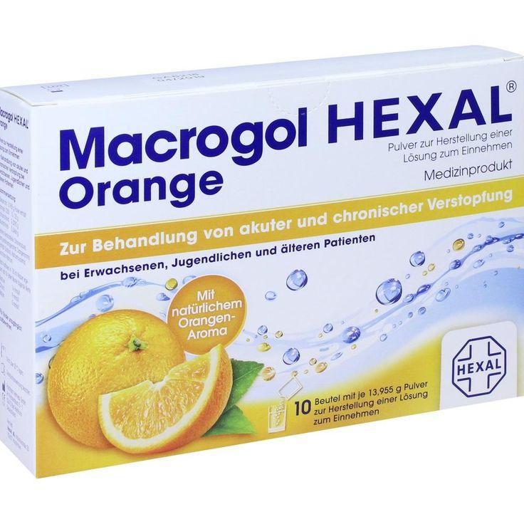 MACROGOL HEXAL Orange Plv.z.Her.e.Lsg.z.Einn.Beutel:   Packungsinhalt: 10 St Beutel PZN: 11553699 Hersteller: Hexal AG Preis: 4,72 EUR…