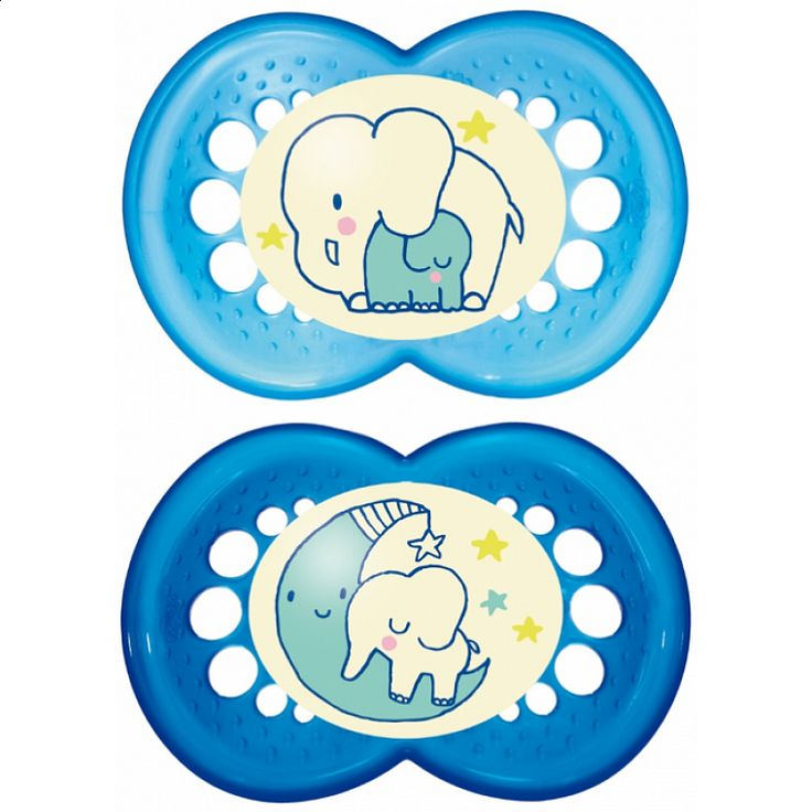 "MAM ""NIGHT"" 2x Dummy Pacifier Soother"