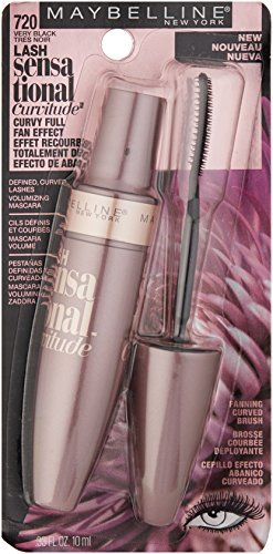 79330cc5f39 Maybelline Lash Sensational Curvitude Washable Mascara, Very Black, 0.33  fl. oz.