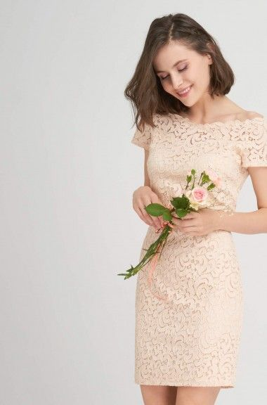 Ołówkowa sukienka z koronki