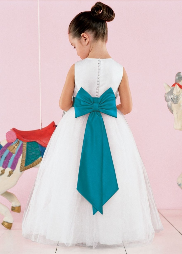 David's Bridal Flower Girl Dress!! I love this dress! it needs a purple bow :)