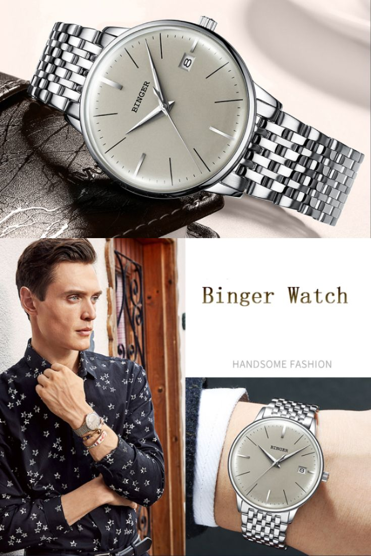 Curved Aesthetic Surface Swiss Watch Stylish Watches Men Mens