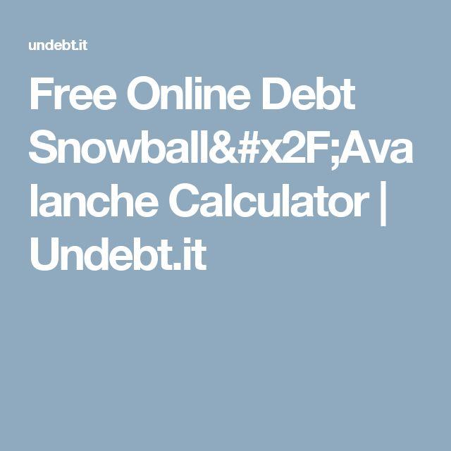 Free Online Debt Snowball/Avalanche Calculator Undebtit Money
