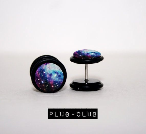 Star Bright Galaxy Fake Plugs by Plug-Club-$13---love these things:))