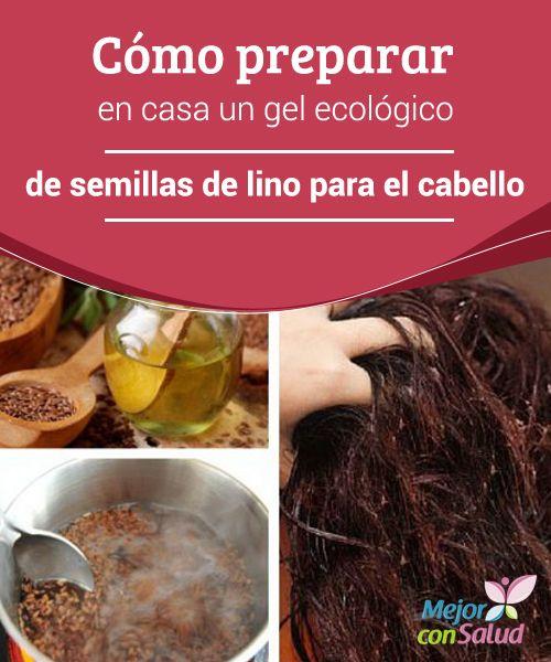 Cómo preparar en casa un gel ecológico de semillas de lino para el cabello El gel tiende a solidificarse a medida que se va enfriando, por lo que conviene filtrarlo antes, para eliminar los restos de semillas, y guardarlo en un recipiente adecuado