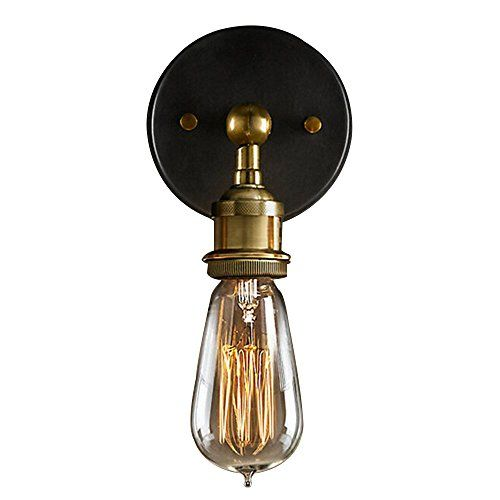 Buyee Modern Industrial Brass Wall Sconce Edison Lamp Retro Wall Light Rustic Vintage Wall ...