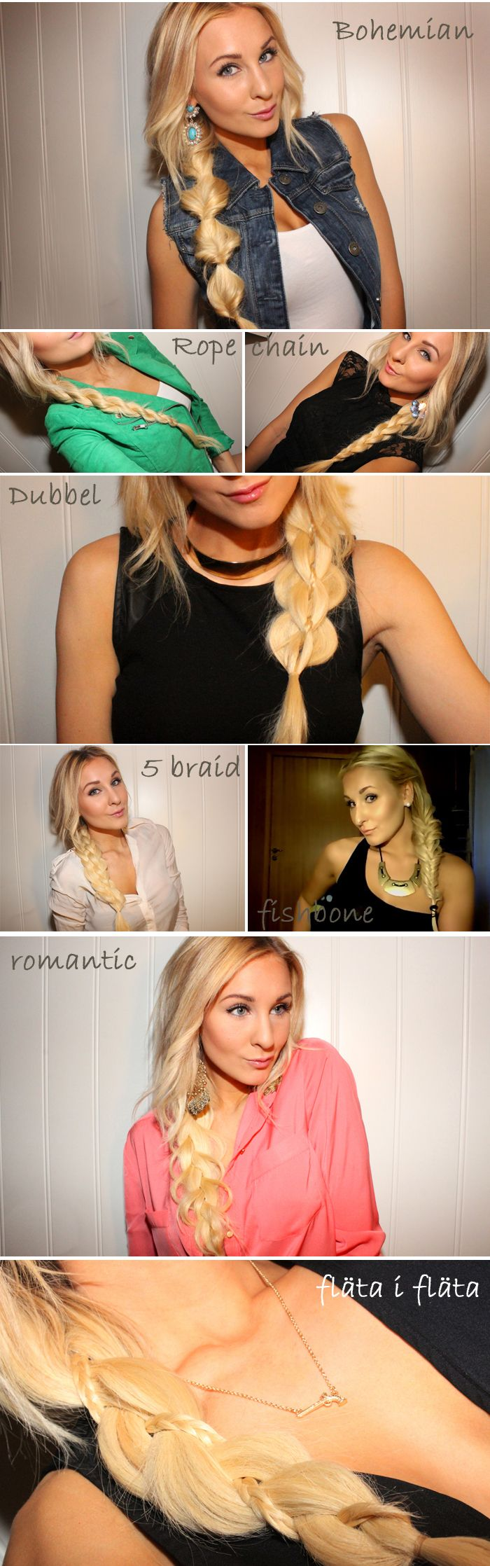 "8 Hairstyle Tips to the student, ""Braids"". | Helen Torsgården - Hiilens sminkblogg | VeckoRevyn"