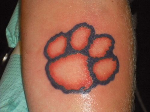 clemson tattoo design clemson paw tattoo picture at art tattoos. Black Bedroom Furniture Sets. Home Design Ideas