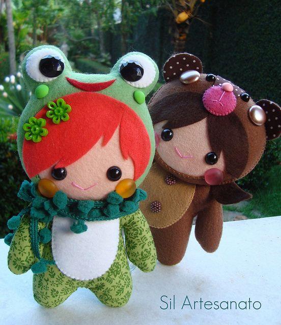 felt dolls. So cute!