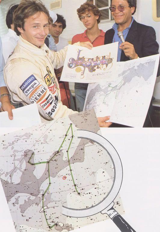 Astro Gilles Villeneuve en la Constelacion de Perseo, registro del cielo de Paris.