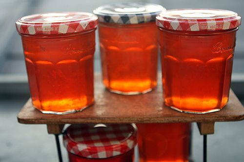 Make your own apple jelly for the best PBJs ever! The Calvados in the recipe certainly adds depth to the finished product, but you can feel free to leave it out. From @David Lebovitz.