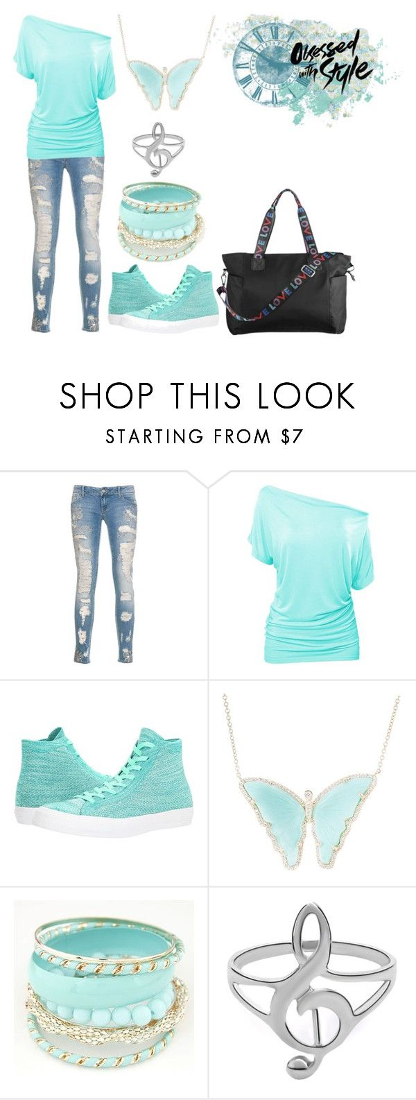 """""""Obsessed With Style"""" by ddcrew ❤ liked on Polyvore featuring Converse and Luna Skye"""