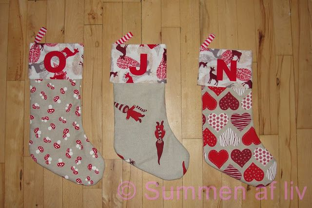 Summen af liv: Julesok DIY - Christmas stocking tutorial