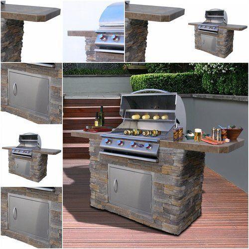 Outdoor-Grill-Islands-4-Burner-Gas-Bbq-Cooking-Patio-Steel-Propane-Built-In-Unit
