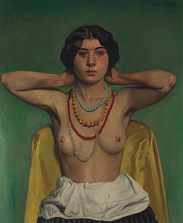Femme aux Colliers by Félix Vallotton (Swiss/French 1865–1925)