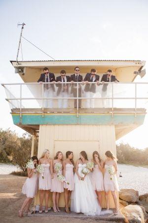 Wedding party shots at Noosa Main Beach!